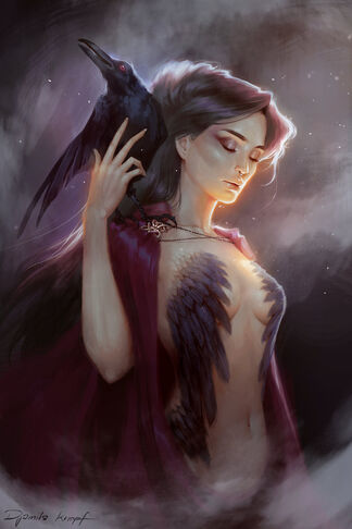The morrigan by shilesque-d8qelnf