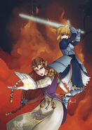 Commission zelda and saber by fez kuro-d4wh0vv