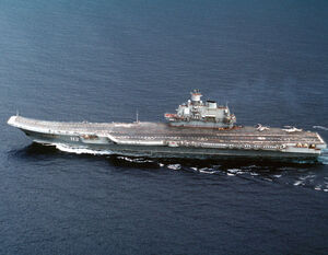 Soviet aircraft carrier Admiral of the Fleet of the Soviet Union Flota Sovetskogo Soyuza Kuznetsov