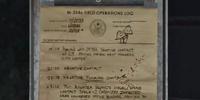 Registro de las operaciones de campo
