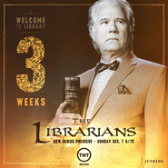 The Librarians three weeks poster