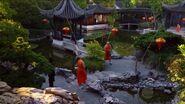 New Shangri-La courtyard