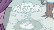 S2E18A Literally a snow angel