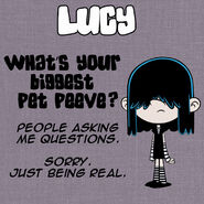 Lucy Q&A Pet Peeve