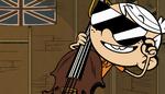S1E17A Linc on cello with sunglasses