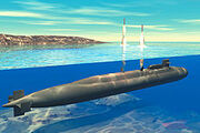 220px-Ohio-class submarine launches Trident ICBMs (artist concept)