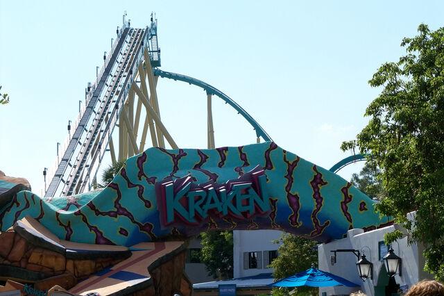 File:SeaWorld Kraken Roller Coaster Entrance.jpg