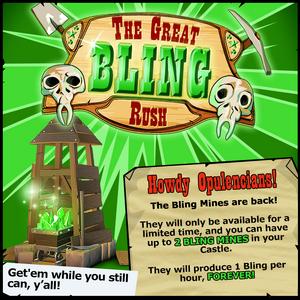 Event Bling Rush Annoucement