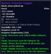 Mayhem Projection Goggles