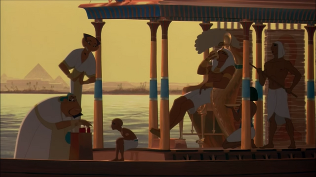 File:Rameses with his son on his royal boat.png