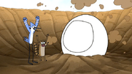 S7E10.014 Mordecai and Rigby Happy to See Party Horse