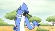 S6E13.137 Mordecai Imitating a Turntable