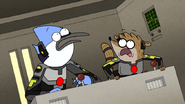 S6E24.390 Mordecai and Rigby Hearing Carter and Briggs