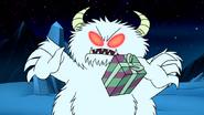 S8E23.083 Snow Monster Hit by Benson's Gift