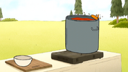 S7E19.187 The Chicken Wing Going in the Chili Pot