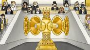 S4E21.122 Golden Jewel-Encrusted Speaker