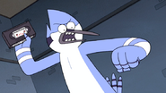 S6E01.155 Mordecai About to Throw the Tape