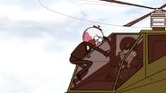 S6E18.199 Benson Punching Through the Chopper's Windshield