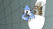 S7E05.395 Mordecai Activates the Knockout Dart Mode