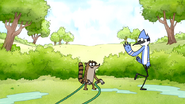 S6E06.006 Rigby Covers Mordecai for Watering the Lawn