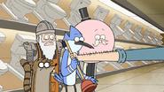 S6E23.095 Toilet Keeper Giving Mordecai a Plunger