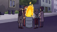 S7E21.243 Hobos at a Barrel Fire