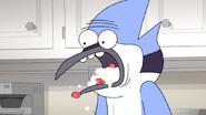 S6E01.107 Mordecai Horrified by His Mom's Backup Dessert