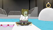 S6E14.169 Starla Standing Sadly on a Trampoline