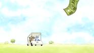 S4E31.009 100 Dollar Bill Escapes Rigby's Hand