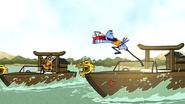 S6E26.147 Mordecai Catching the Stomach