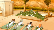 S6E15.210 Baby Turtles Swarming the Yoga Instructor