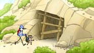 S4E17.003 Mordecai and Rigby Heading Towards the Cave