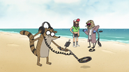 S7E01.110 Rigby Using a Metal Detector