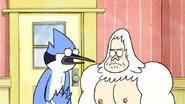 S3E34.111 Mordecai Asking Skips for the VHS