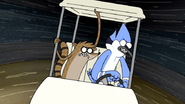 S4E24.138 Mordecai and Rigby Doing Smaller Donuts