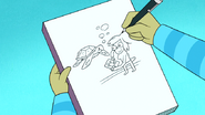 S6E15.006 Eileen Drawing Herself Drawing a Sea Turtle