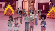 S4E31.075 Country Club Spectators Welcoming Mordecai and Rigby