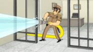 S5E30.044 The Sheriff Spraying His Hose