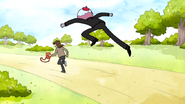 S6E18.093 Benson Leaping Towards the Thief