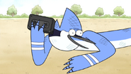 S5E19.154 Mordecai with the Crash Pit Tape