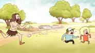 S4E17.207 Caveman Chasing Two Kids