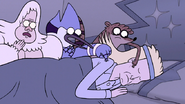 S7E11.122 Mordecai, Rigby, and Skips Waking Gary Up