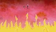 S7E24.208 Fire Rising Below Rigby and Ziggy