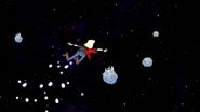 S8E23.130 Rocker Caroler Flying in Space