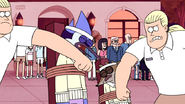 S4E31.085 Swedish Security Guards Knocking Out Mordecai and Rigby