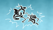 S4E20.177 Mordecai and Rigby Shocked by Electric Eels