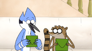 S6E20.029 Mordecai and Rigby Looking at Their Mail