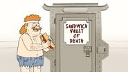 S6E26.105 Sensai Eating His DKD Sandwich of Health