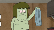 S7E28.140 Muscle Man Removing His Shirt