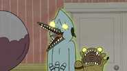 S6E04.113 Back Faces of Ghost Mordecai and Rigby